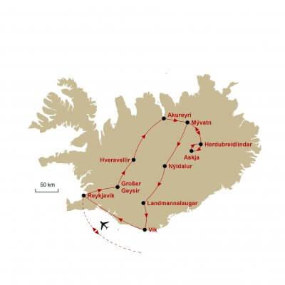 Karte Island
