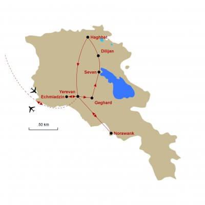 Karte Armenien
