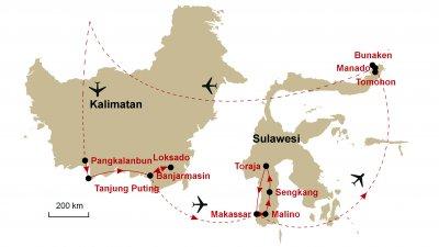 Karte Kalimatan Sulawesi