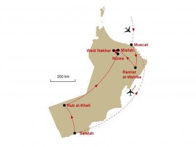 Karte Oman