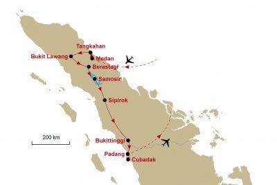 Karte Sumatra