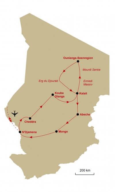 Karte Tschad