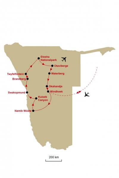 Karte Namibia