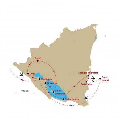 Karte Nicaragua