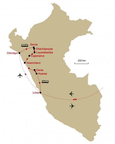 Karte Peru Nord