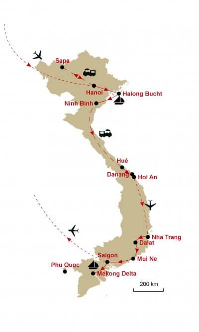 Karte Vietnam