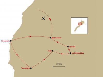 Karte Marrakesh