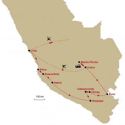 Karte Peru Süd