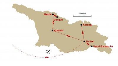 Karte Georgien