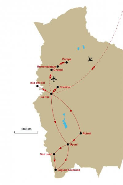 Karte Bolivien