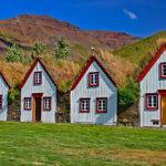 Historischen Torfgehöft in Laufás, Island