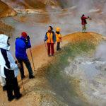 Wandern mit der Minigruppe im Geothermalgebiet Kerlingarfjöll