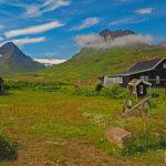 Gästehaus Skeið, in dem wir während unserer Reise übernachten, im schönen Svarfarðardalur