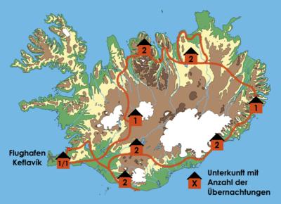 Karte der Island